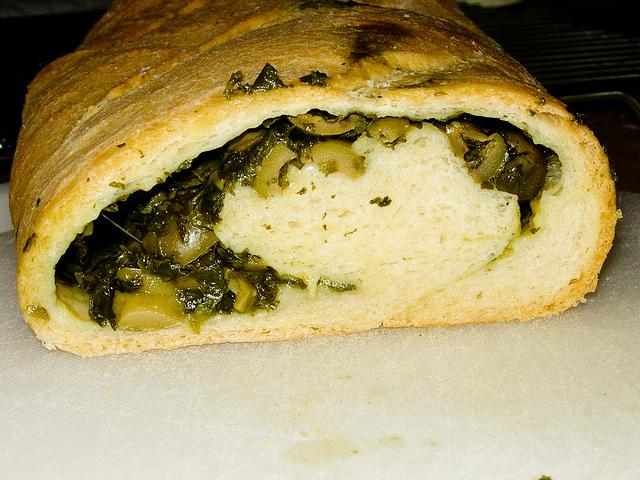 Eliopsomo - Greek Olive Bread (Inside)