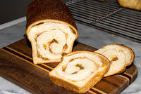 "Cinnamon Raisin Bread, ""junior"" loaves, own recipe  20070512-15.39.55"