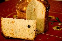 Panettone sliced & crumb